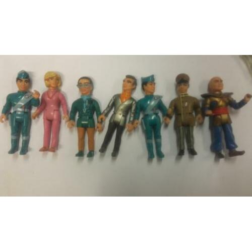 7 Thunderbirds figuren matchbox en 5 x vervoer