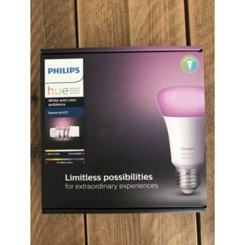 Philips Hue bridge + 3 generatie 1 lampen (kleur)