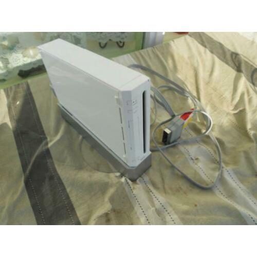 Gameconsole Wii met controller+lader, wifibalk, game sports.