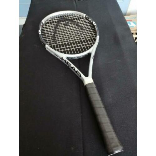 Head flex point liquid metal power in control top racket